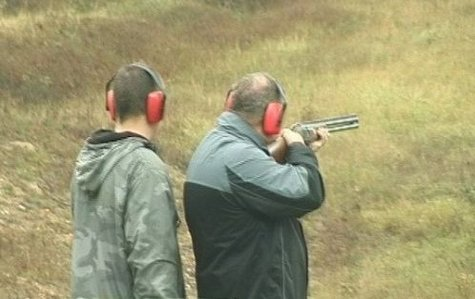Men on a shooting range
