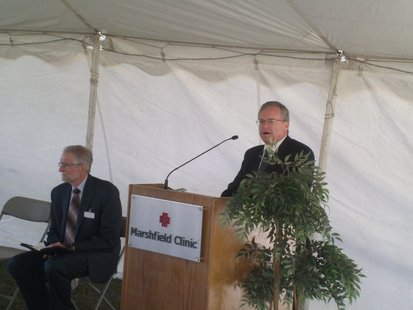 Wisconsin Health Secretary Dennis Smith speaking at Marshfield Clinic groundbreaking ceremony in Stevens Point 9-10-12