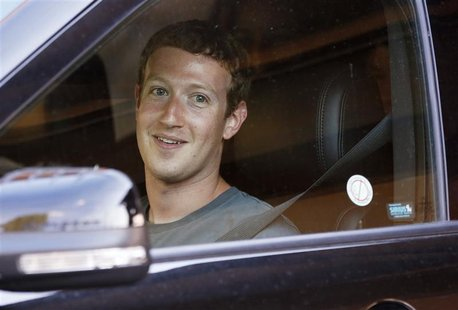 Facebook Chief Executive Officer Mark Zuckerberg attends the Allen & Co Media Conference in Sun Valley, Idaho July 12, 2012. REUTERS/Jim Urq