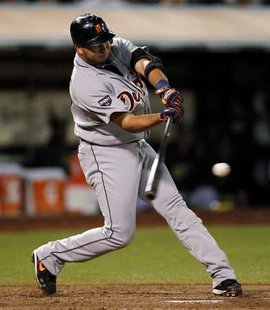 Detroit Tigers shortstop Jhonny Peralta, who drove in the lone run in a 4-1 loss to the White Sox in Chicago on Monday, Sept. 10, 2012 (REUTERS)