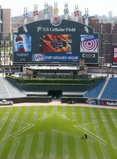 US Cellular Field in Chicago, in drier times.  Thursday's game between the White Sox and Tigers was rained out.(REUTERS)