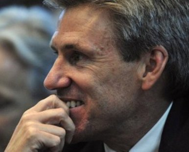 U.S. Envoy Christopher Stevens at an April 2011 meeting during the Libyan government crisis. REUTERS/Esam al-Fetori