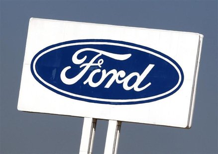 The Ford Motor Company's emblem is pictured at the company's factory in Almussafes near Valencia September 5, 2012. REUTERS/Heino Kalis