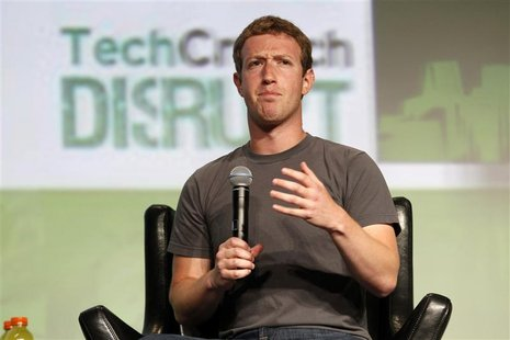 Facebook CEO Mark Zuckerberg speaks during a question and answer session at the TechCrunch Disrupt conference in San Francisco, California,