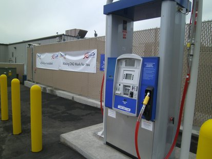 CNG (Compressed Natural Gas) fuel station