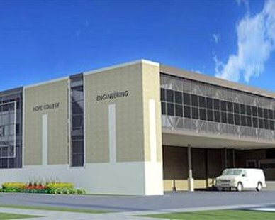 Rendering of expansion of Hope College's Haworth Engineering Center (courtesy of Hope College)
