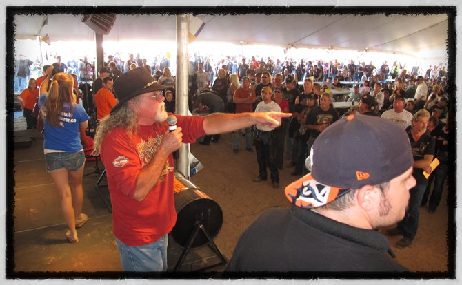 The MDA auction..people got some great deals and helped the MDA in a big way at the Fall Ride!!