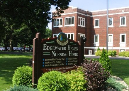 Edgewater Haven Nursing Home, Port Edwards WI.  Photo courtesy Wood County