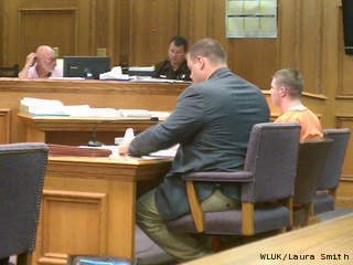 Vincent Enneper appears in Oconto County court for his sentencing hearing, Sept. 19, 2012. (courtesy of FOX 11).