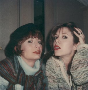 Legendary comedienne and director Penny Marshall (L) is shown in a family photograph with friend, actress and writer Carrie Fisher in this u