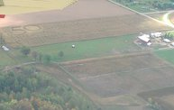 Aerial View of Zoromski Corn Maze in Ringle 9