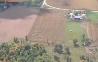 Aerial View of Zoromski Corn Maze in Ringle 3