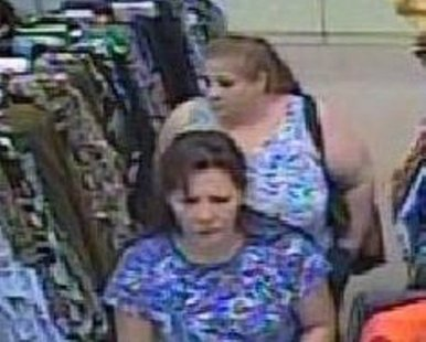 Image from surveillance photo taken of suspects in the Fields Fabric store in Holland on Sept. 4, 2012 (photo courtesy Holland Department of Public Safety).