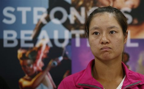 Tennis player Li Na of China attends a news conference for the Pan Pacific Open tennis tournament in Tokyo September 23, 2012. REUTERS/Toru