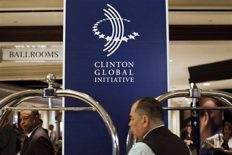 Employees at the Sheraton Hotel on 52nd Street prepare for the Clinton Global Initiative in New York September 22, 2012. Former U.S. Preside