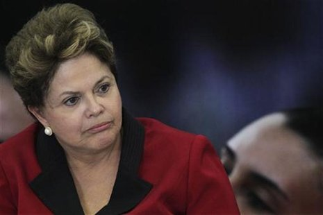 Brazil's President Dilma Rousseff speaks during the launching ceremony of the Brazil Plan 2016 at the Planalto Palace September 13, 2012. RE