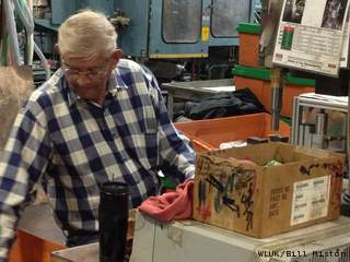 Melvin Blank on the job at Alliance Laundry Systems in Ripon, Sept. 24, 2012. (courtesy of FOX 11).