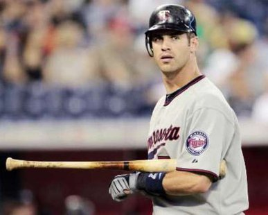Minnesota Twins catcher Joe Mauer. REUTERS/Mark Blinch