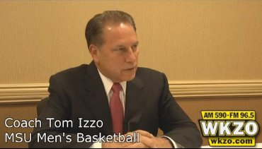 Tom Izzo speaks with the media in Kalamazoo at the Radisson Plaza Hotel on Monday September 24th, 2012.