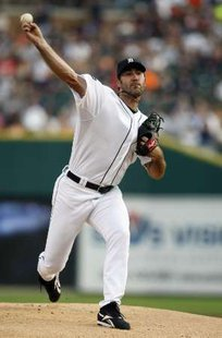 Detroit Tigers pitcher Justin Verlander, who won his 16th game of the season on Monday, September 24, 2012, as he struck out 8 KC Royals in a 6-2 win at Comerica Park.
