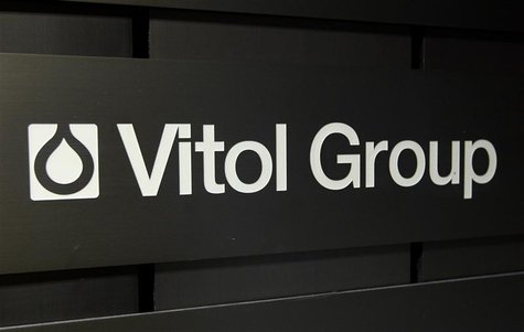 A sign is pictured in front of the Vitol Group trading commodities building in Geneva October 4, 2011. REUTERS/Denis Balibouse