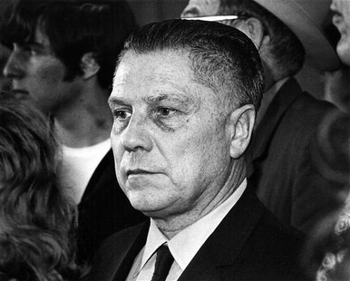 U.S. labor leader Jimmy Hoffa is photographed at the Greater Pittsburgh Airport, Pennsylvania in this April 12, 1971 file photograph. REUTER