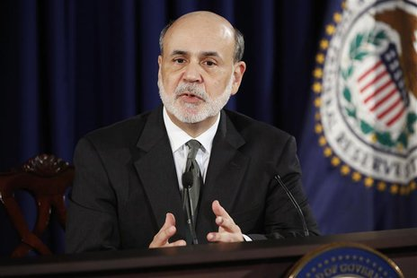 U.S. Federal Reserve Chairman Ben Bernanke addresses U.S. monetary policy with reporters at the Federal Reserve in Washington September 13,