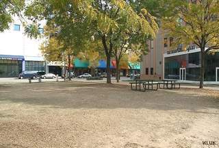 Houdini Plaza in downtown Appleton is seen, Oct. 1, 2012. (courtesy of FOX 11).