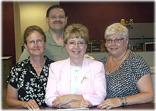 County Clerk Julie Glancey and staff.  (Glancey center)