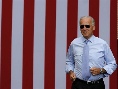 U.S. Vice President Joseph Biden attends a campaign event at the Strawbery Banke Museum in Portsmouth, New Hampshire, September 7, 2012. REU