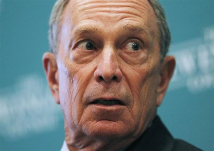 "New York City Mayor Michael Bloomberg listens to a question at the ""The Economics and Politics of Immigration"" Forum in Boston, Massachusett"