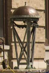 A view of a sconce Oshkosh police say was stolen from the front of the Masonic Temple on Sept. 29 or Sept. 30, 2012.