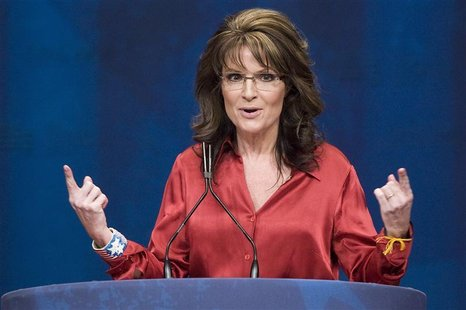 Former Alaska Governor Sarah Palin addresses the American Conservative Union's annual Conservative Political Action Conference (CPAC) in Was