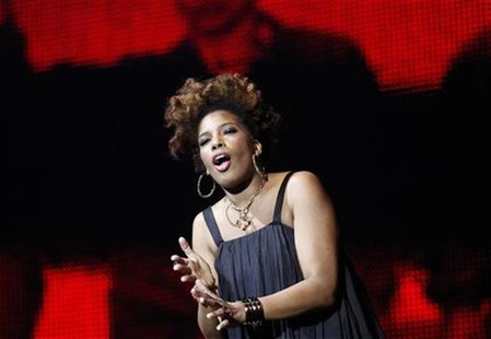 "Macy Gray performs during multimedia performance directed by Robert Wilson titled ""Solidarity. Freedom is the Name of Your Angel!"" at Gdansk"