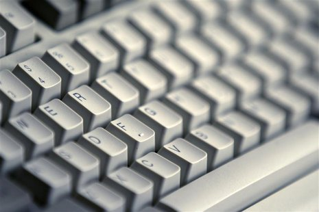 A computer keyboard is seen in Bucharest April 3, 2012. REUTERS/Bogdan Cristel