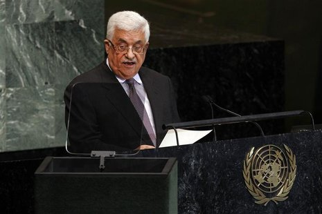 Palestinian President Mahmoud Abbas addresses the 67th United Nations General Assembly at the U.N. Headquarters in New York, September 27, 2