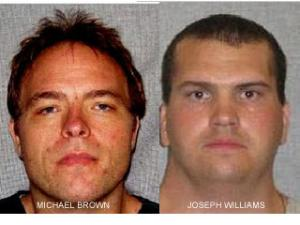 Michael Brown and Joseph Williams mugshots, courtesy Wis. Dept. of Corrections