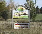 Pittsville, WI welcome sign