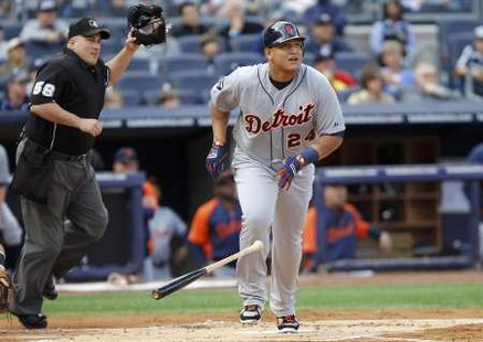 Detroit 3B Miguel Cabrera, who became the first Triple Crown winner since 1967 (REUTERS)