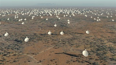 The Square Kilometre Array (SKA) radio telescope project is seen in his artists impression image made available by the Manchester based SKA