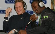AJ Hawk and James Jones laughing photo