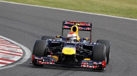 Red Bull Formula One driver Sebastian Vettel of Germany drives during the qualifying session of the Japanese F1 Grand Prix at the Suzuka cir