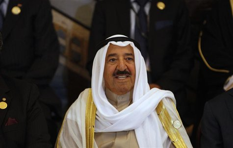 Kuwait's Emir Sheikh Sabah al-Ahmad Al-Sabah smiles during the opening session of the 23rd Arab League summit in Baghdad March 29, 2012. REU