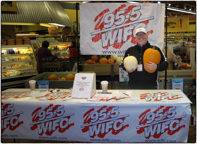 Broadcasts galore! This one at Crossroads County Market with WIFC Disco Cures Cancer tickets and pumpkins! Check mine out!