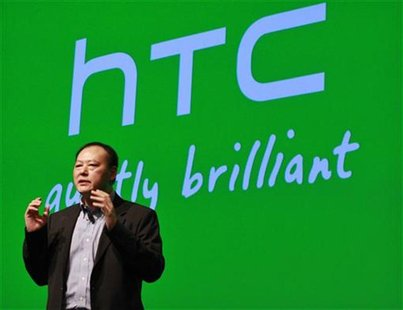 HTC CEO Peter Chou speaks during the launch event for new Microsoft Windows 8 operating system HTC phones in New York September 19, 2012. RE