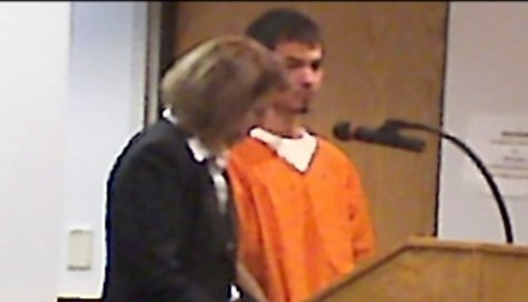 Marcos Garza in Marathon Co. Court with Public Defender Susan O'Neill