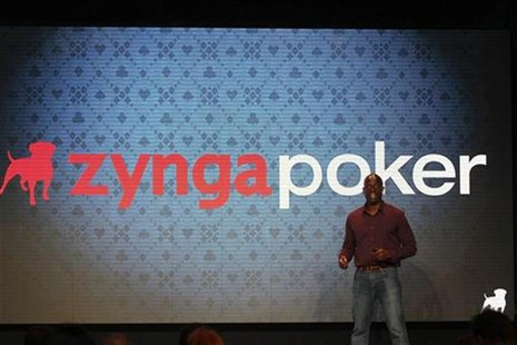 Zynga General Manager Lo Toney takes the stage at the Zynga Unleashed event at the company's headquarters in San Francisco, California Octob