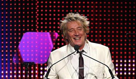 Singer Rod Stewart accepts the Founders Award at the 28th annual ASCAP (American Society of Composers, Authors and Publishers) Pop Music Awa