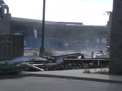 Demolition continues at the former Centerpoint Marketplace Mall in Stevens Point.