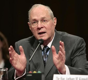 U.S. Supreme Court Justice Anthony Kennedy testifies about judicial security and independence before the Senate Judiciary Committee on Capit